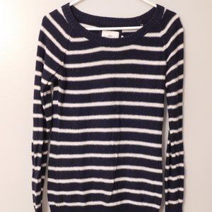 H&M Navy and White Stripe Sweater